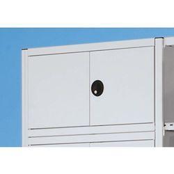 Drzwi skrzydłowe z wyklejką, jasnoszary, ral 7035, wys. zabudowy 500 mm. wpuszcz marki Eurokraft