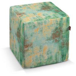 Dekoria pufa kostka twarda, zielony, żółty, brązowy, 40x40x40 cm, urban jungle