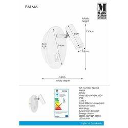 Kinkiet PALMA 107356 - Markslojd - Black Friday - 21-26 listopada (7330024577947)