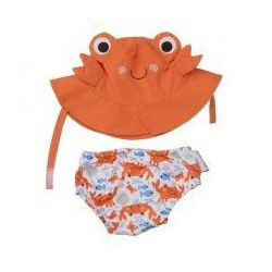 Zoocchini Zestaw plażowy pieluszka kąpielowa czapka krab upf 50+,