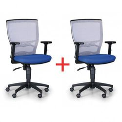Krzesło biurowe venlo 1+1 gratis, szaro/niebieskie marki B2b partner
