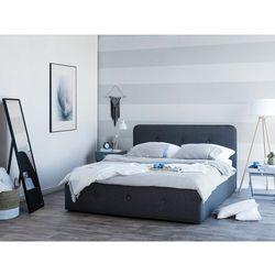 Beliani Łóżko ciemnoszare tapicerowane podnoszony pojemnik 180 x 200 cm rennes (4260602374008)