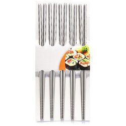 Fackelmann Pałeczki do sushi ze stali inox, trwałe i eleganckie nirosta 30100