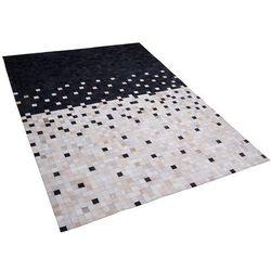 Beliani Dywan skórzany czarno-beżowy 160 x 230 cm erfelek (4260624115399)