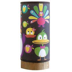 Blumen Lumpi keedz - lampka nocna dąb/len motyw kaczek wys.25cm