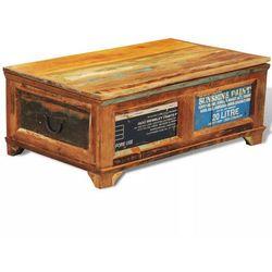 Vidaxl Stolik kawowy - skrzynia vintage, drewno odzyskane