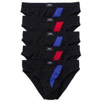 Slipy (5 par)  czarny, Bonprix, XL-XXXXL