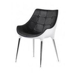 Fotel PASSION czarno-biały, ekoskóra - włókno szklane, podstawa chromowana, A-051.EKO.CZ-BI (7811633)