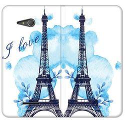Flex Book Fantastic - Sony Xperia E4g - etui na telefon Flex Book Fantastic - niebieska wieża eiffla - produk