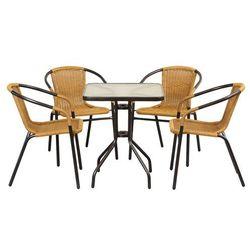 Meble ogrodowe summer black/honey 4+1 60x60 wyprodukowany przez Home garden