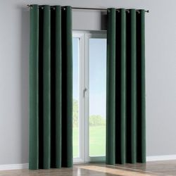 zasłona na kółkach 1 szt., ciemny zielony, 1szt 130 × 260 cm, velvet marki Dekoria