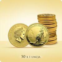 Australijski Kangur 1 uncja złota x 50