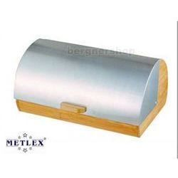 CHLEBAK BAMBUSOWY Z POKRYWĄ STALOWA METLEX MX-1601