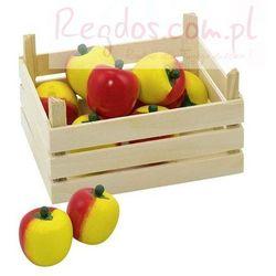 Owoce w skrzynce, jabłka, 10 elementów. (skrzynka narzędziowa zabawka)