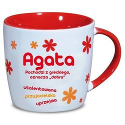 Nekupto, Agata, kubek ceramiczny imienny, 330 ml