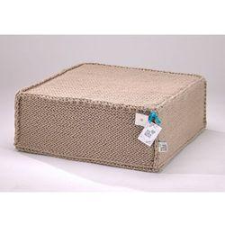 Beżowy szydełkowy puf Soft Flat - We Love Beds, 5902409732832