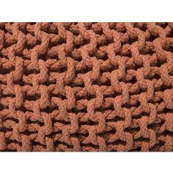 Puf 50 x 35 cm brązowy conrad marki Beliani