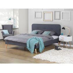 Łóżko szare - 180x200 cm - łóżko tapicerowane - RENNES, Beliani