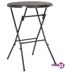 Vidaxl składany stolik barowy, hdpe, 80x110 cm, brąz, rattanowy wygląd (8718475623618)