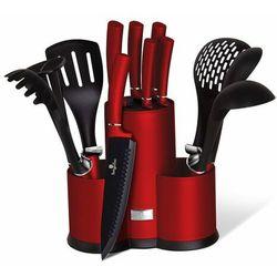 Berlingerhaus zestaw noży i przyborów kuchennych w stojaku 12 szt. Burgundy Metallic Line (5999108407246)