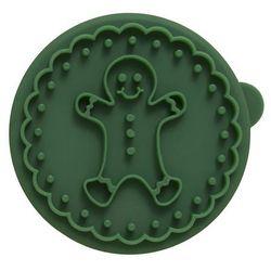 Stempel drewniany do ciastek piernikowy ludzik owls zielony marki Birkmann