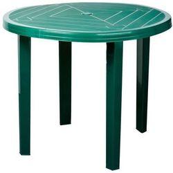 Obi Stół opal okrągły 90 x 70 cm zieleń leśna (5907795804125)
