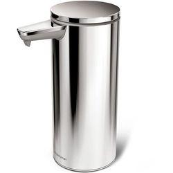 - dozownik bezdotykowy na mydło srebrny marki Simplehuman