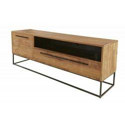Sofa.pl Invicta stolik rtv straight 165 cm - akacja, drewno naturalne, metal