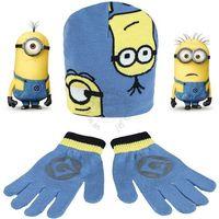 Licencja - inne Komplet- czapka i rękawiczki z postaciami z bajki minionki