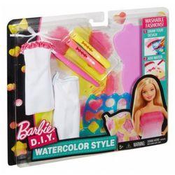 Mattel BARBIE Zrób to sama Akwarelowe wzory, żółto-różowy