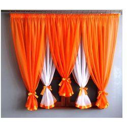 Dagmara firanka gotowa 150x400 cm kolor pomarańczowy, kolor pomarańczowy