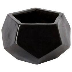 Goodhome Doniczka ceramiczna ozdobna 9 cm czarna (3663602441205)