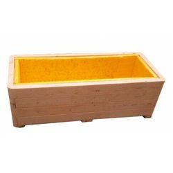 Drewniana minimalistyczna prostokątna donica ogrodowa - Astra