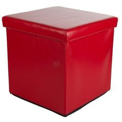 Stilista ® Bordowa składana pufa cube siedzisko kufer fotel - bordowy