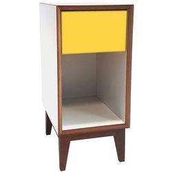 Szafka nocna pix 30cm - biała/front żółty marki Ragaba
