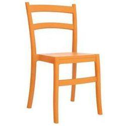 Krzesło ogrodowe na taras tworzyw Tiffany pomarańczowe