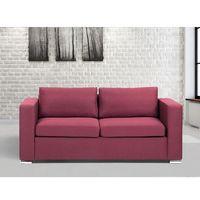 Sofa burgundowa - trzyosobowa - kanapa - sofa tapicerowana - HELSINKI (7081455001210)