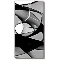 Zegar Szklany Pionowy Abstrakcja Grafika Czarno-biały, kolor wielokolorowy