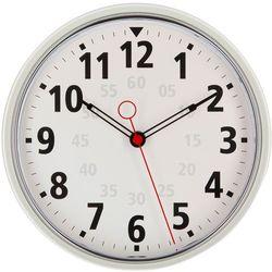 Okrągły biały zegar, ścienny, do biura, kuchni, pokoju, nowoczesny, biała tarcza, wyraźne cyfry, funkcjonalna dekoracja,, kolor biały