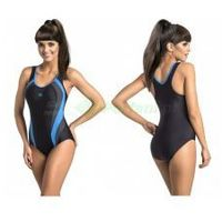 POWER III klasyczny strój kąpielowy pływacki czarny/niebieski gWINNER + Czepek | WYSYŁKA 24h