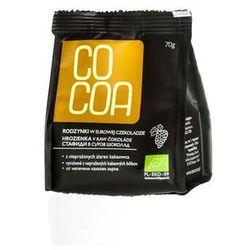 Rodzynki w surowej czekoladzie BIO 70g - Cocoa - produkt z kategorii- Bakalie, orzechy, wiórki