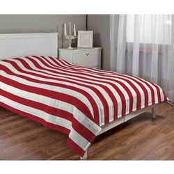 Dekoria narzuta pikowana w pasy, pasy czerwono-białe, szer.170 × dł.210 cm, comics