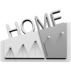 Wieszak na klucze home  biały / aluminium marki Calleadesign