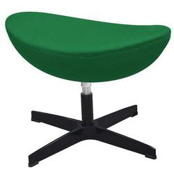 King home Podnóżek egg classic black zielony.75 - wełna, podstawa czarna