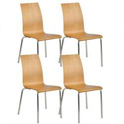 B2b partner Krzesło do jadalni bella, naturalna, 4 szt.