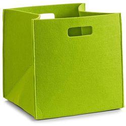 Zeller Kosz do przechowywania, kwadratowy, filcowy - pojemnik 33 l, kolor zielony,