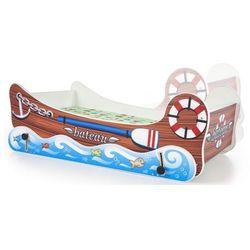 Łóżko dziecięce z kołyską hippi - łódka marki Elior.pl