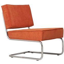 Zuiver  krzesło lounge ridge rib pomarańczowe 3100012