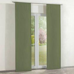 zasłony panelowe 2 szt., zgaszona zieleń, 60 × 260 cm, jupiter marki Dekoria