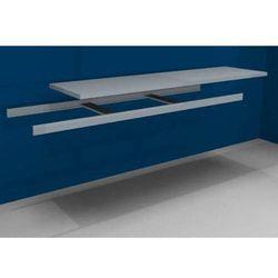 Dodatkowa półka w komplecie z trawersami i półką stalową, szer. 2500 mm, gł. 600